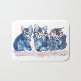 Crazy Quilt Kittens Bath Mat