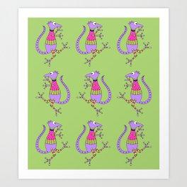Reptilian Dance Art Print