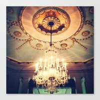 chandelier Canvas Prints featuring Chandelier by elle moss