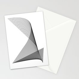 """Linear Collection"" - Minimal Number Two Print Stationery Cards"