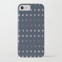 moon phases iPhone & iPod Cases featuring Moon Phases by Kiss the Sky