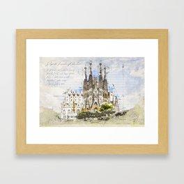Sagrada Familia, Barcelona Spain Framed Art Print