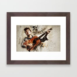 Bob Dylan is Awesome Framed Art Print