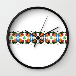 Squirrel pattern Wall Clock