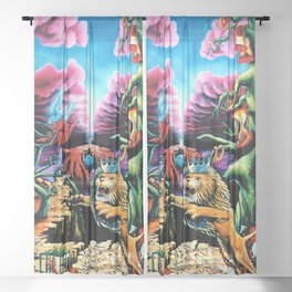 Trippy Psychedelic Visionary Art by Vincent Monaco -The Wrath Sheer Curtain