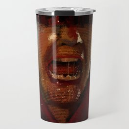 Man screaming texture illustration painting Travel Mug