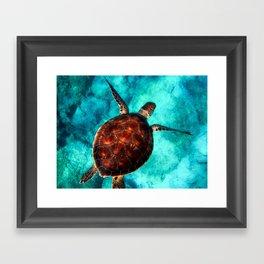 Marine sea fish animal Framed Art Print