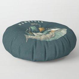 Whale | Petrol Grey Floor Pillow