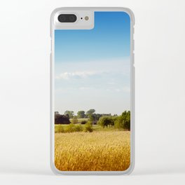 Rural wheat field view Clear iPhone Case