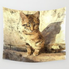 All Cats Are Black In The Dark Wall Tapestry