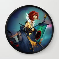 transistor Wall Clocks featuring Red and Luna by Leksotiger