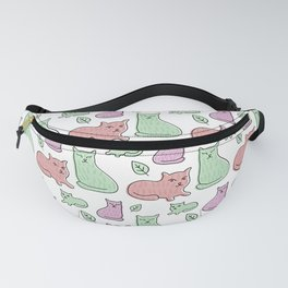 Countless Playful Cats Pastel Fanny Pack