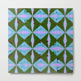 Diamondback Green/Blue/Pink Metal Print
