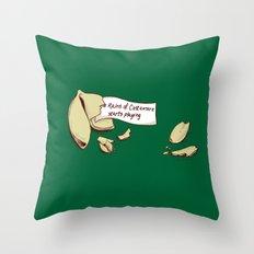 Not That Lucky Throw Pillow