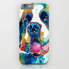 Colorful Saint Bernard Dog by Sharon Cummings Slim Case iPhone 6s