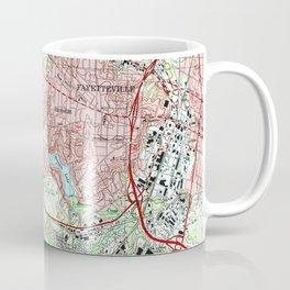 Fayetteville North Carolina Map (1997) Coffee Mug