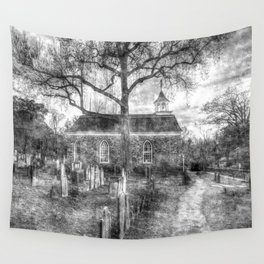 Old Dutch Church Of Sleepy Hollow Vintage Wall Tapestry