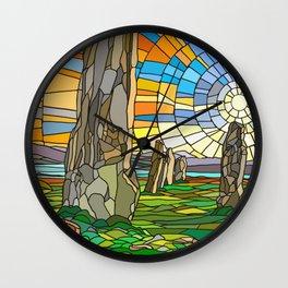 Calanais Sunset Wall Clock