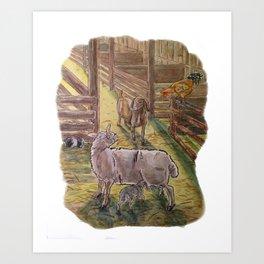 Popcorn the Lamb 3 Art Print