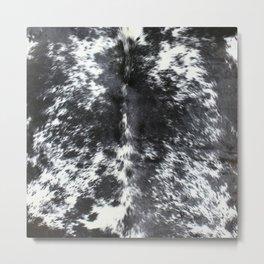 Black and white cowhide Metal Print