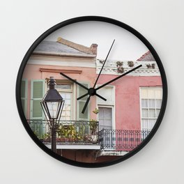 New Orleans Golden Hour in the Quarter Wall Clock