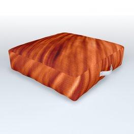 Burnt Orange Pixel Wind Outdoor Floor Cushion
