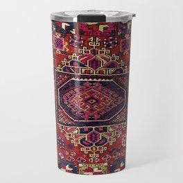 Karakecili Balikesir Antique Tribal Turkish Rug Print Travel Mug