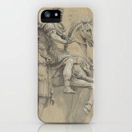 Vintage Marcus Aurelius on Horseback Illustration iPhone Case