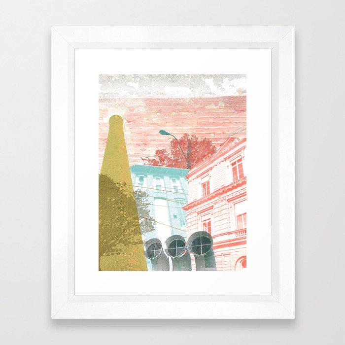 City exploring Framed Art Print
