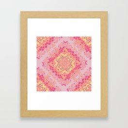 Love Butterfly Pattern Framed Art Print