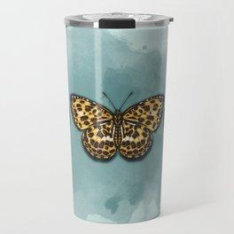 Timelaea Albescens. Big yellow butterly. Moth Travel Mug
