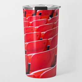 Red Stadium Seats Travel Mug