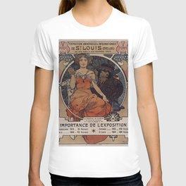 ST. LOUIS World's Fair Alphonse Mucha 1904 T-shirt