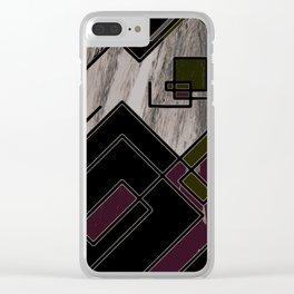 Square Design Clear iPhone Case