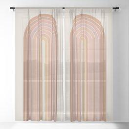 Gradient Arch - Natural Tones Sheer Curtain