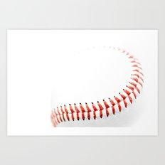 Baseball stitch Art Print