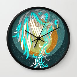 Ice Phoenix Wall Clock