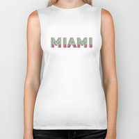 miami Biker Tanks featuring MIAMI  by Oddline