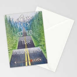 Mountain Travel Quote Stationery Cards