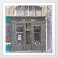 cafe Art Prints featuring Cafe by Patty Haberman
