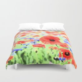 poppies art 004 Duvet Cover
