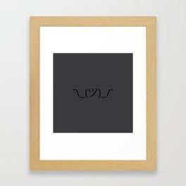 ¯\_(ツ)_/¯ Shrug - Dark Grey Framed Art Print