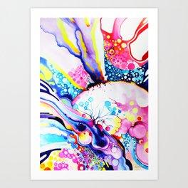 Infinite Flare - Watercolor Painting Art Print