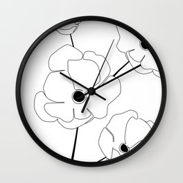Bloomed Flower Wall Clock