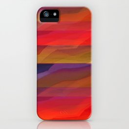 Seascape in Shades of Red and Purple iPhone Case