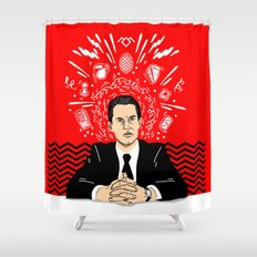 Twin Peaks: Dale Cooper's Thoughts Shower Curtain