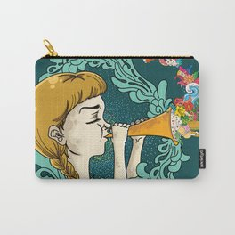 Girl with Trumpet Carry-All Pouch