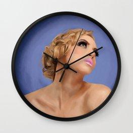 Beauty Blue Wall Clock
