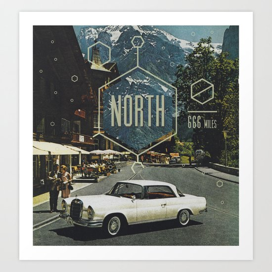 666 miles north Art Print