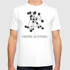 Drunk Alcohol Mens Fitted Tee White SMALL